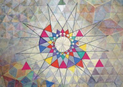 Navigation im Unbekannten, 1999, ca. 145 x 155 cm