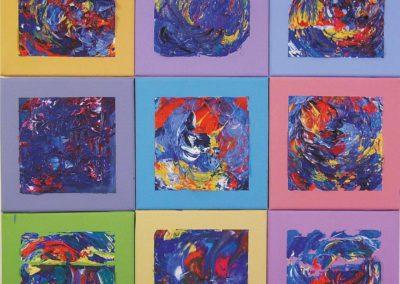 Magisches Quadrat, 2008, 60 x 60 cm